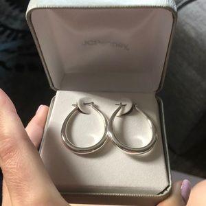 Never worn hoop earrings